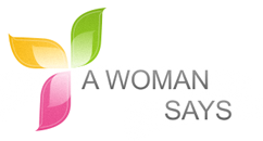 A woman says