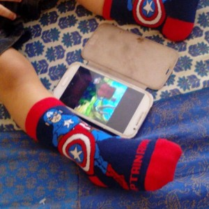 #captainamerica watches nani teri morni