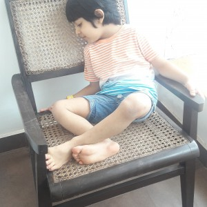 antique chair n antique pose
